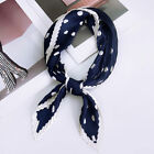 Square Dot Small Foulard Silk Bandana Neck Scarf Handkerchief Soft Gifts Women
