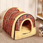 Dog House Kennel Nest With Mat Foldable Pet Dog Bed Cat Bed House For Small Dogs