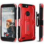 ZTE Blade Z Max (Z982) Case, UMAX Dual Layer Case with Kickstand & Holster