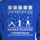 Bat Flip Ugly Christmas Sweater Merry Flippin Christmas Toronto Blue Jays