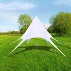 Garden Gazebo Star Pavilion Sunshade Hexagon Canopies Camping Party Tent White