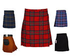 "Men's Scottish Highland Traditional 6-yard TARTAN KILT Sizes "" 34 to 44 """