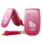 Unlocked Hello Kitty Flip Cute Small Mini Mobile Phone Best For Kids Girls Lady