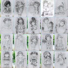 Внешний вид - Boy Girl Transparent Silicone Clear Stamps Cutting Dies DIY Scrapbook Embossing