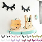 2pcs Wooden Eyelashes Diy Kids Bedroom Living Room Decal Wall Sticker Decor Fun