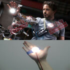 Creative Kids Gift DIY Accessory Marvel Led Light Hands for Iron Man Toys 1:1
