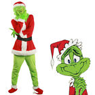 US Grinch Santa Cosplay Costume How the Grinch Stole Christmas Unisex Adult Suit