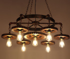 Industrial Style Vintage Ceiling Light Restaurant Chandelier Pendent Lamp Gear