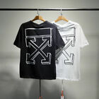 OFF WHITE Print Logo T-Shirt Fashion Cotton Full Size S-3XL