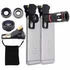 US Smartphone 10X Zoom Telephoto Fish Eye+Wide Angle+Micro Clip-On Camera Lens