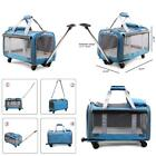Pet Stroller For Cats And Dogs Soft-Sided Travel Carrier With Removable Wheels
