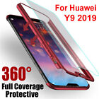 For Huawei Y9 2019 360� Cover Front + Back PC + Tempered Glass Shockproof Case