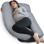 PharMeDoc U-Shape Full Body Pregnancy Pillow + Detachable Extension - ALL COLORS