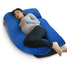 PharMeDoc U-Shape Full Body Pregnancy Pillow + Detachable Extension - ALL COLORS <br/> 🔥 SELLING FAST