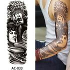 Large Full Arm Temporary Tattoo Sticker Beauty Decal Body Art Flowers Decal.