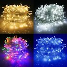 Mains 31V Plug In Fairy String Lights Christmas Clear Wire BedroomGarden Decor