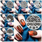 Nail Art Stamping Plates Christmas Flower Printed Round Templates Plates New