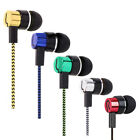 Braided 3.5mm In-Ear Earphones Bass Headphone Stereo Headset Earbuds Braided