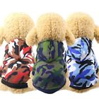 Puppy Pet Dog Hoodie Warm Winter Apparel Clothes Camouflage Coat Jacket Shirt US