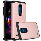 For LG K30/Xpression Plus Phone Case [Armor Series] Cover+Glass Screen Protector