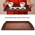 Внешний вид - Vintage Wooden Serving Tray Plate With Handles for Tea Set Fruits Candies Food