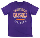 Camp David Mens Evansville Purple Aces College Thomas T Shirt Purple