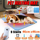9 Temp Waterproof Pet Electric Pad Blanket Heated Heating Mat Dog Cat Bunny Bed