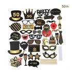 UK 21st/30/40/50/60th 36PCS Birthday Party Photo Booth Props On Stick Selfie