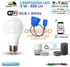 Lampadina E27 9W Wifi Smart LED RGB W Lampadina per Amazon Alexa Google Home