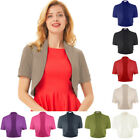 Pleated Size Blouse Summer Sleeve Cotton Shrug Bolero Crop Tops Cardigan Short