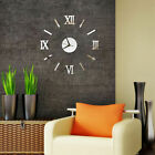 Large DIY Wall Clock Big Watch Decal 3D Sticker Roman Numerals Modern Home Decor