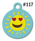 Pet ID Tags for Dog & Cat   Personalized Custom Cute Smiling SUN Love Heart #117