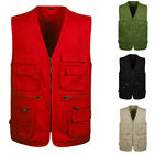 Men Multi Pocket Military Waistcoat Combat Outdoor Fishing Vest Jacket Plus Size