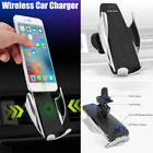 Automatic Clamping Wireless Car Charger Fast Charging Mount For iPhone Samsung R