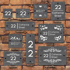 Rustic Natural Slate House Gate Sign Plaque Door Number Personalised Name Plate