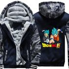 Dragonball Z Vegeta Hoodies Boys Men Zip Sweatshirts Thick Warm Fleece Jacket