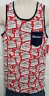 Men's S M L 2XL Budweiser King of Beers Retro Bud Tile Tank Top Shirt NEW!