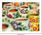 Colorfully Painted Ceramic Pots Art Print Home Decor Wall Art Poster - F