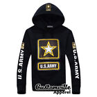 US ARMY Hoodie USA American Military Star Logo Army strong Pullover gift idea
