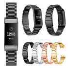 Stainless Steel Metal Wrist Bands Strap Replacement for Fitbit Charge 3/Charge 4