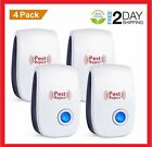 4 Pack UltraSonic Mosquito Pest Repellent Mice Rat Control repeller no-pestz NEW