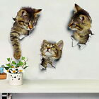 1pc 3d Cute Cat Wall Stickers Self Adhesive Wall Decals Sticker Fridge Toilet