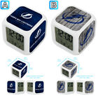 Tampa Bay Lightning Digital LED Clock Multi Color Changing Alarm Desk Decor