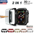 Full Cover Screen Protector Film Bumper Case For Apple Watch Series 5/4 40 44mm