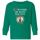 Boston Celtics Love Watching With Daddy Kids Toddler Long Sleeve T-Shirt on eBay