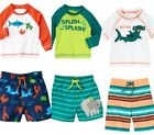 Gymboree Swim Shop 18-24 2T 3T 4T Rash Guard Set U Pick Fish Elephant Green