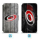 Carolina Hurricanes Leather Flip Case For iPhone X Xs Max Xr 7 8 Galaxy S9 S8 $7.99 USD on eBay