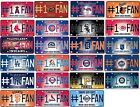 BASEBALL TEAM LICENSE PLATE, #1 Fan, Aluminum Metal Signs, NEW on Ebay
