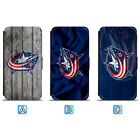 Columbus Blue Jackets Leather Flip Case For iPhone X Xs Max Xr 7 8 Galaxy S9 S8 $8.99 USD on eBay