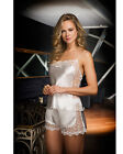 Women Satin and Lace Bridal Camisole Set     European Products